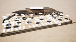 Concession de plage - 3D