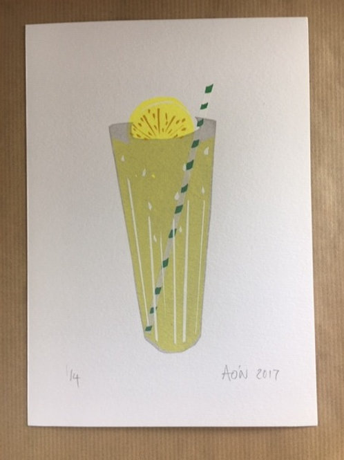 Lemonade limited edition screen print