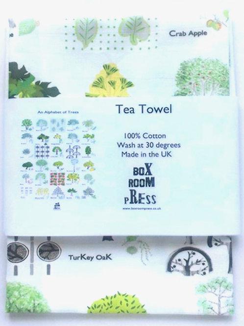 An Alphabet of Trees Tea Towel