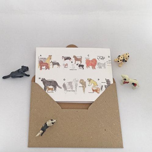 An Alphabet of Dogs Concertina Card