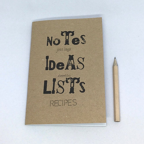 Notes and Jottings Notebook