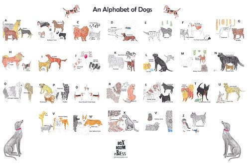 Alphabet of Dogs Tea Towel whole image