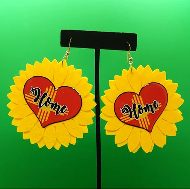 Home Sunflower Earrings