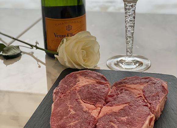 2 Ribeye steak heartshape