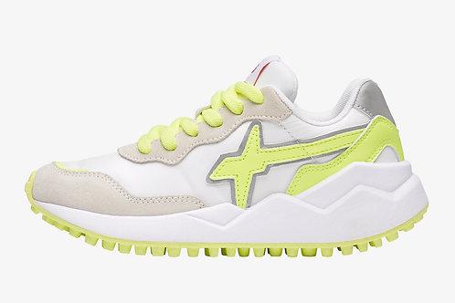 Sneaker white-fluo yellow