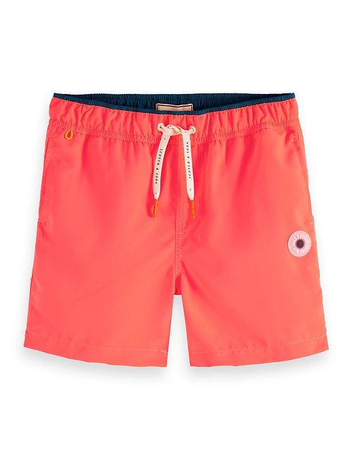 Mid-length magic print swim shorts in recycled polyester