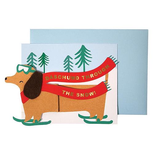 Christmas concertina card