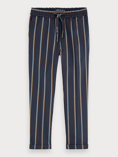 Relaxed slim fit yarn dyed stripe pants