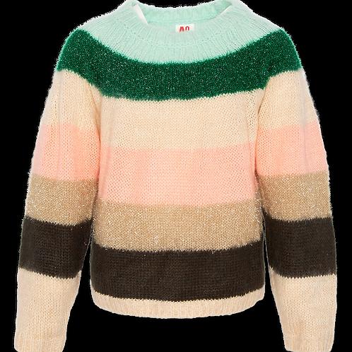 C-neck multicolour stripe