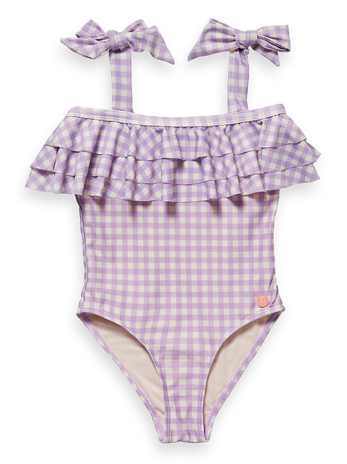 Bathing suit with ruffles