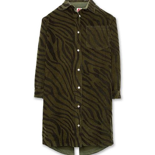 Tiger collor shirt dress
