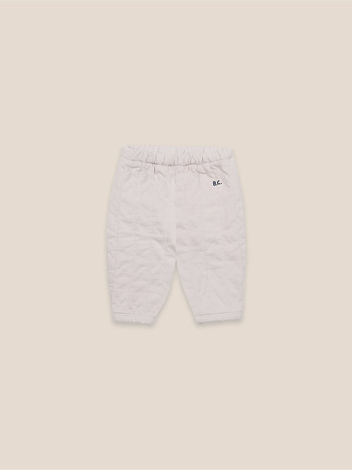 B. C. quilted jogging pants