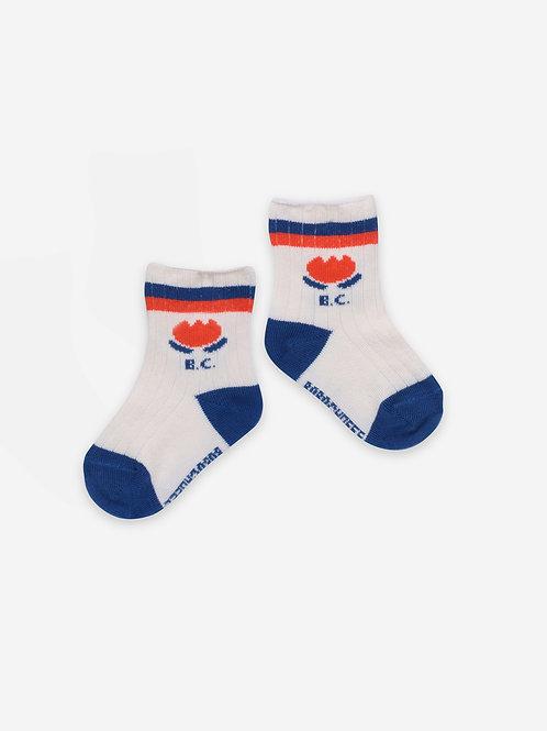 Chocolate flower baby socks