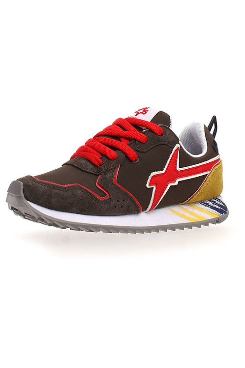 Sneaker brushed militare-red