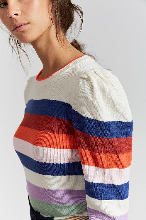Jabal off white striped knit sweater