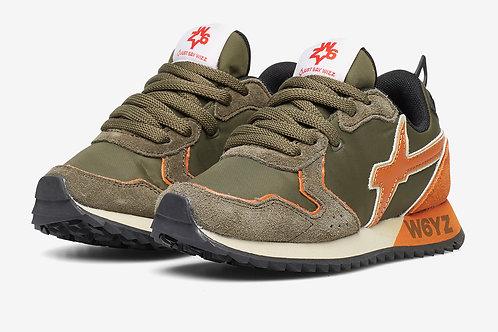 Sneaker militare-arancio