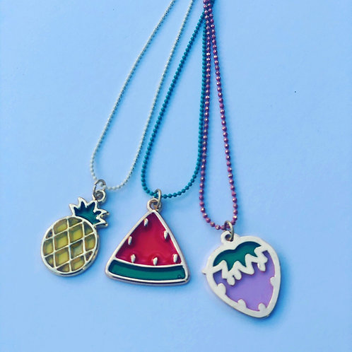 Happy fruit necklace