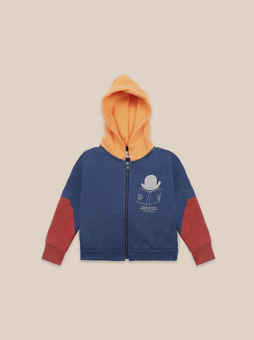 Translator zipped hoodie