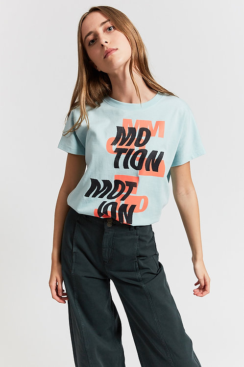Jackson motion t-shirt with text