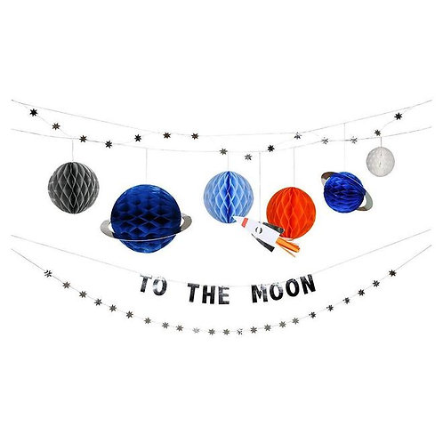 To the moon party theme