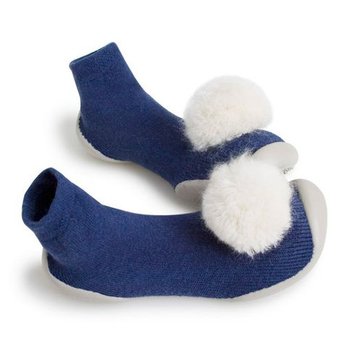Slippers pompom/bow
