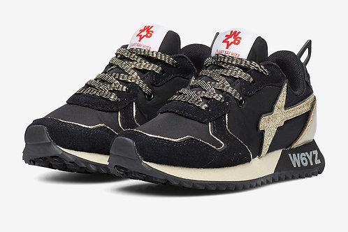 Sneaker nero-oro
