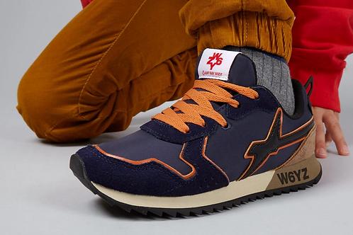 Sneaker navy-nero-topo