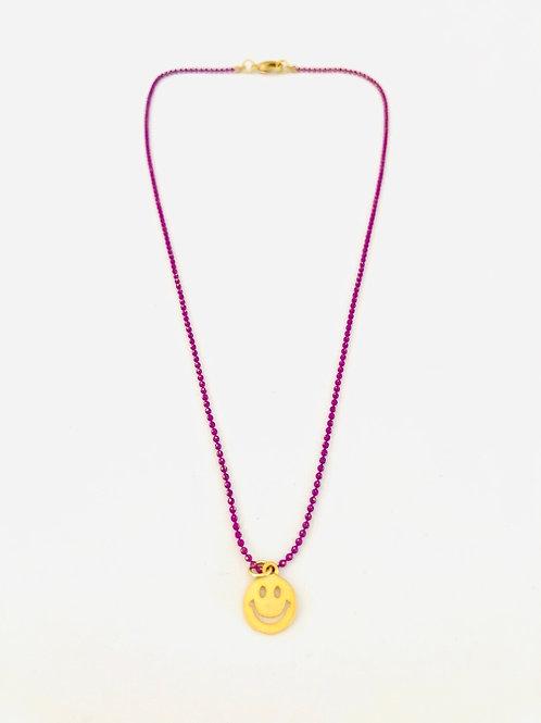 Smiley/koala/cactus necklace