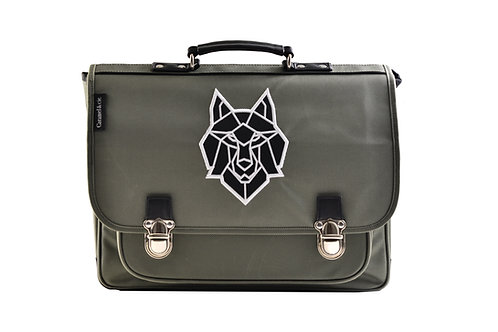 Cartable GM le loup gris