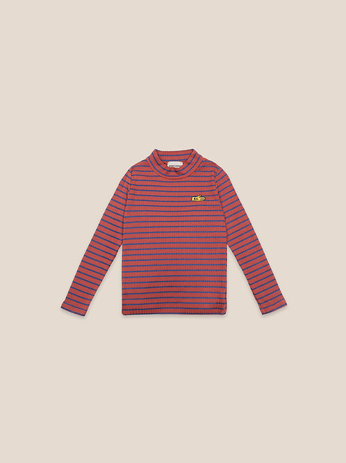 Striped turtle neck t-shirt