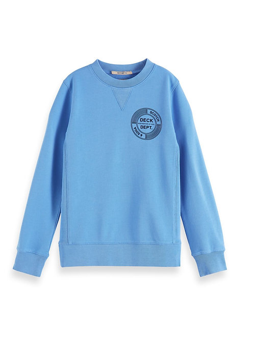 Crew neck sweat with artwork in organic cotton quality