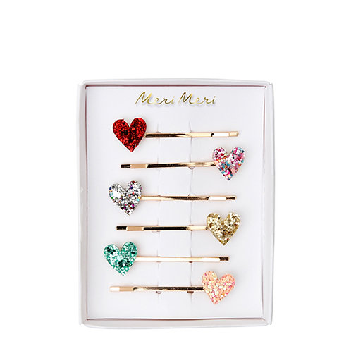 6-pack hairslides/clips