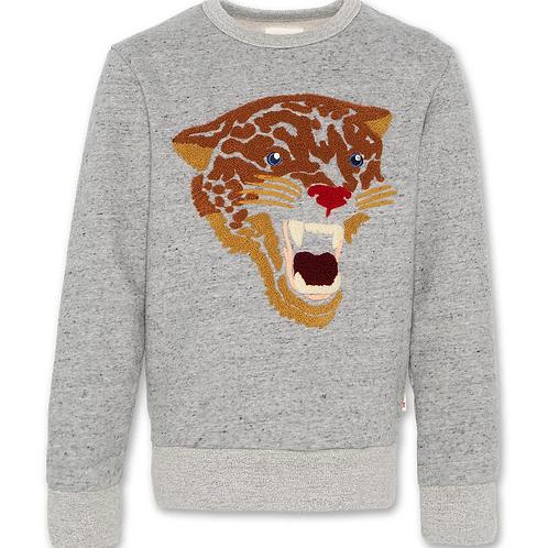 C-neck sweater leopard
