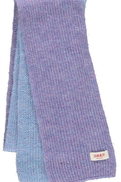 Visa knitted scarf