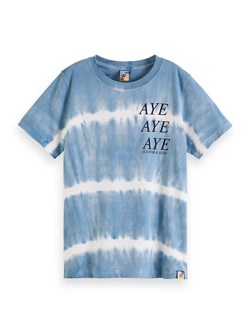 Short sleeve tee with tie-dye in organic cotton quality