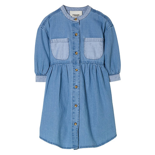 Swing short sleeve shirt dress