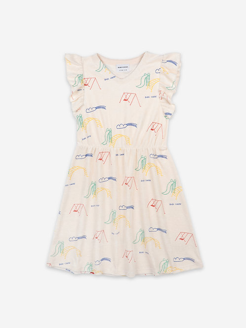 Playground all over terry ruffle dress