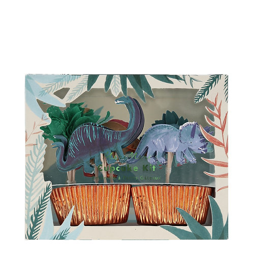 Dinosaurus cupcake-kit