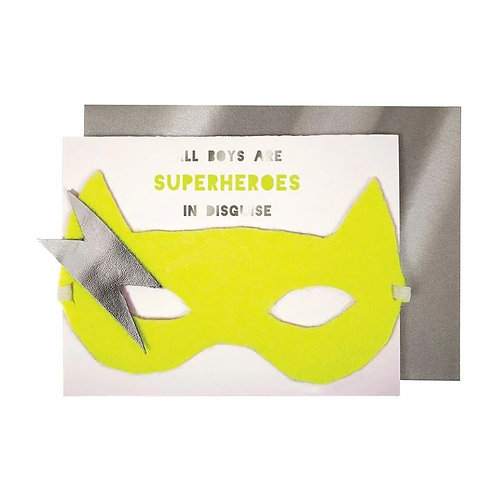 Birthday mask card