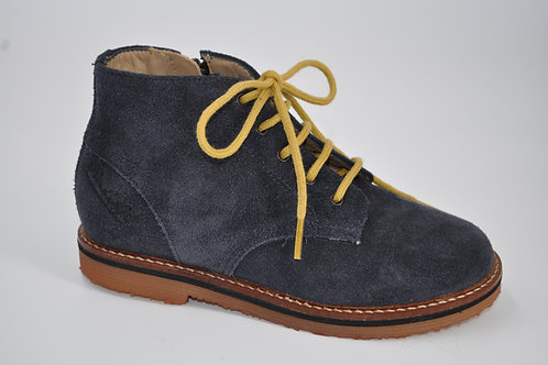 Silex brogue velours oily marine/ocre