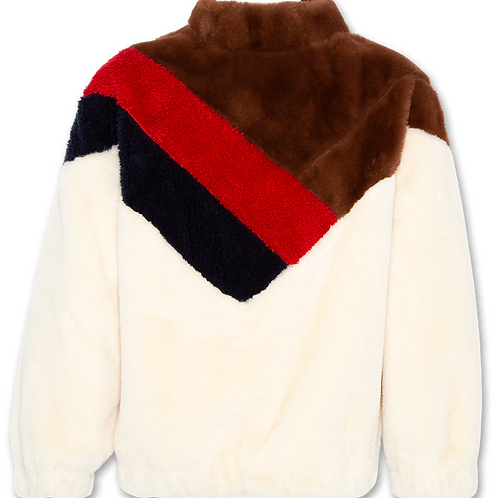 Mock neck fur