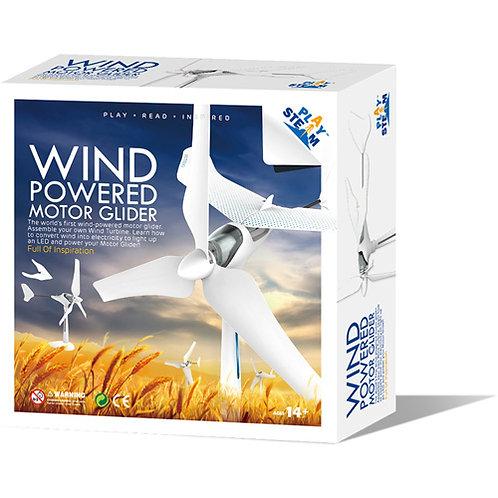 Wind turbine motor glider