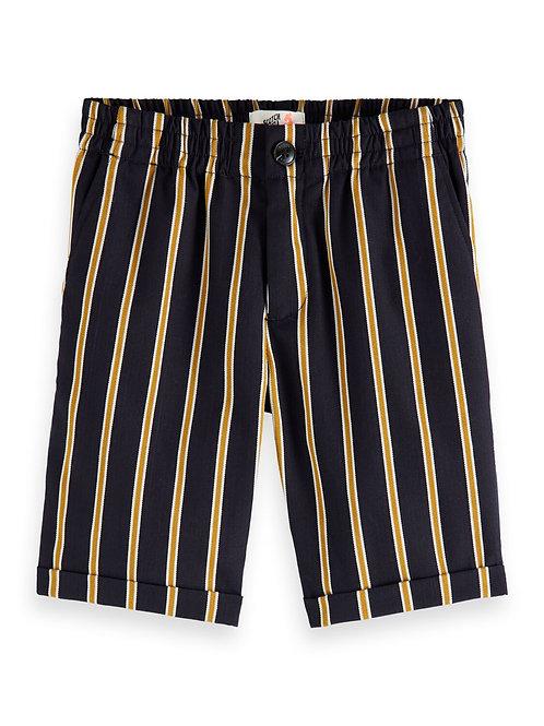 Yarn dyed stripe shorts with elasticated waistband