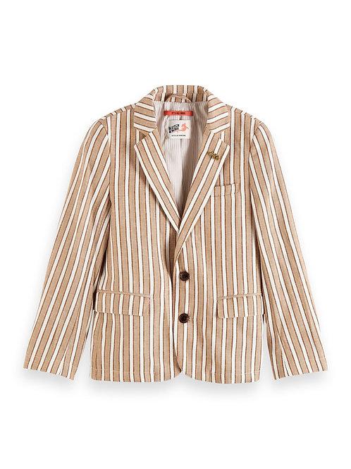 Blazer in cotton-linen quality