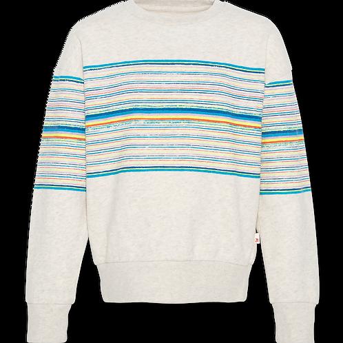 C-neck oversized stripes