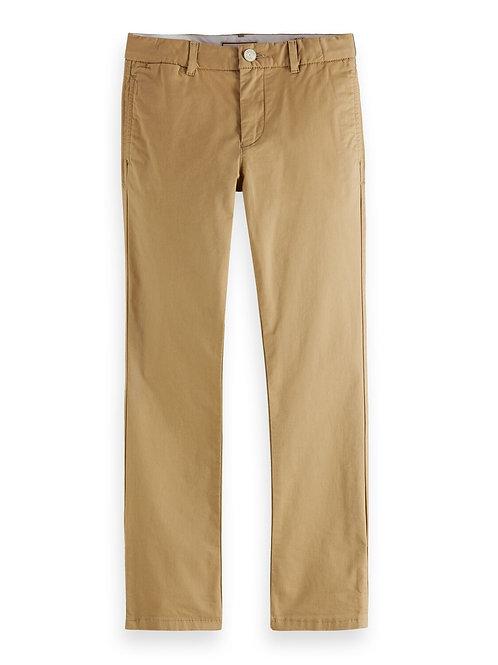 Regular slim fit organic pima cotton chino pants