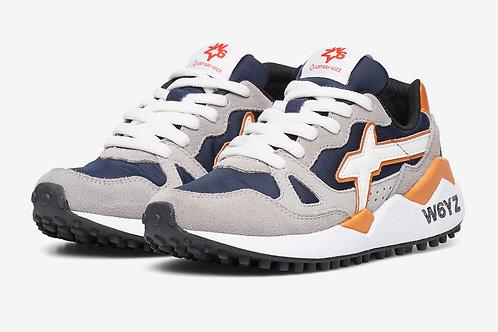 Sneaker piombo-navy-arancio
