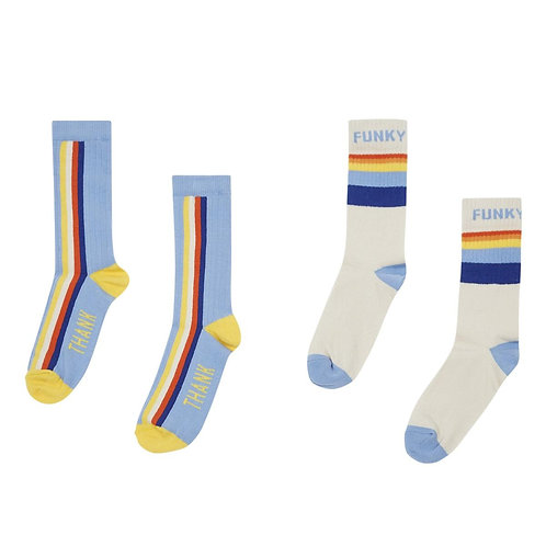 Chill & peacefull/funky & thank youth 2-pack socks
