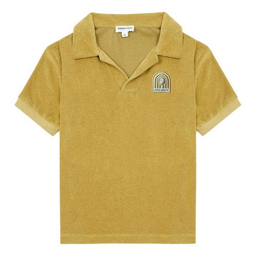 Surf shack terry cloth polo shirt
