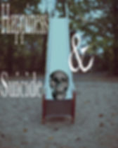 """Skull at the bottom of playground slide for poem """"Happiness & Suicide"""""""
